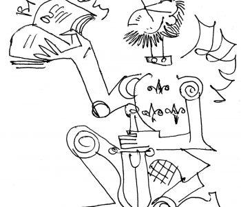 Рыцарь книги. Графика Виталия Воловича